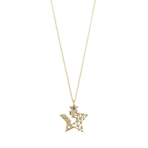 K18YG / エメラルド ダイヤモンド ネックレス